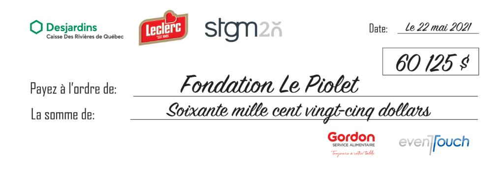 Cheque Fondation Le Piolet