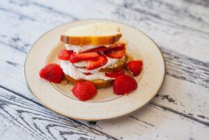 Photo de génoise pour shortcake