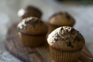 Photo de muffins aux pépites de chocolats
