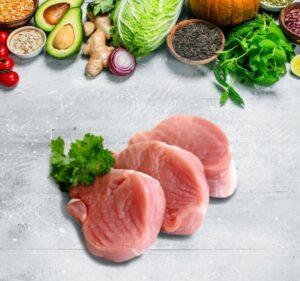 Photo de porc et salsa de fruits