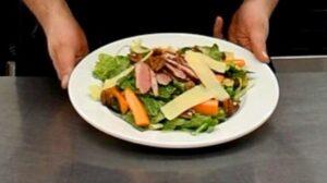 Photo de salade tiède d'hiver au canard